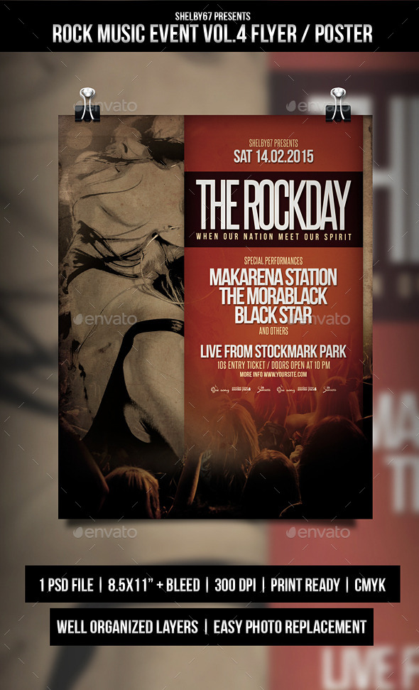 GraphicRiver Rock Music Event Flyer Poster Vol.4 10349244