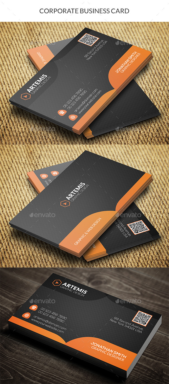 GraphicRiver Corporate Business Card 10349254