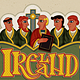 Ireland, Monks in Modern Irish Celtic Art Style