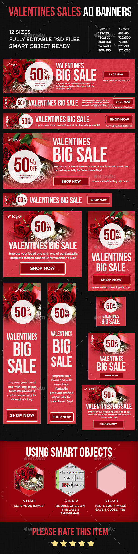 GraphicRiver Valentines Sales Ad Banners 10291716