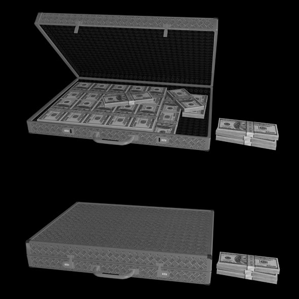 3DOcean Briefcase with Money 10349485