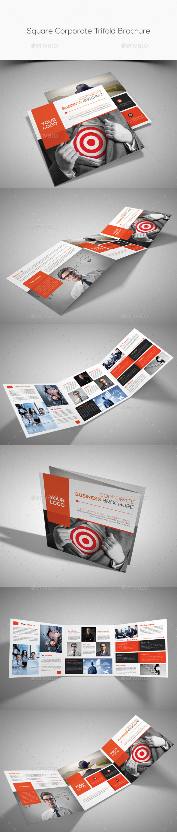 GraphicRiver Square Corporate Trifold Brochure 10349497