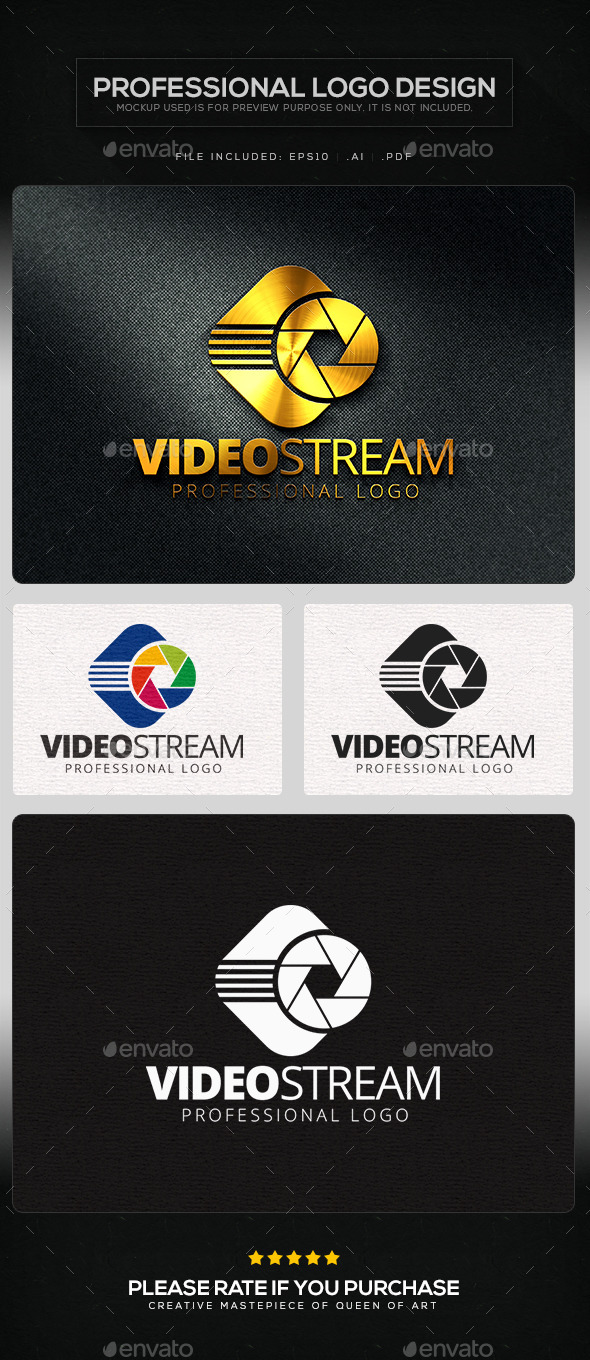 Video Stream Logo Template