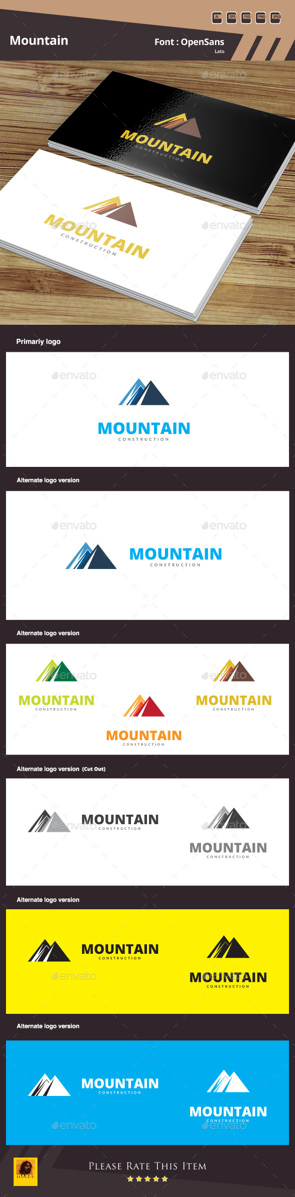 GraphicRiver Mountain Logo Template 10349869