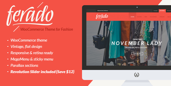 ThemeForest Ferado WooCommerce Fashion Theme 10265157