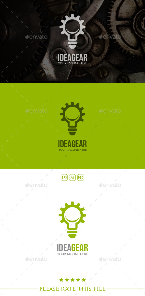GraphicRiver Idea Gear Logo 10350267