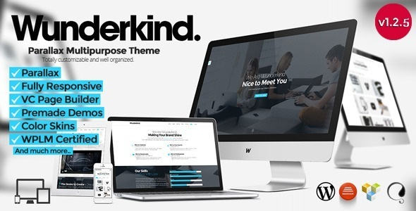 Wunderkind - One Page Parallax WordPress Theme - Creative WordPress