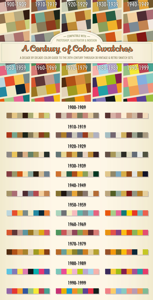 GraphicRiver A Century of Color Swatches 10350329