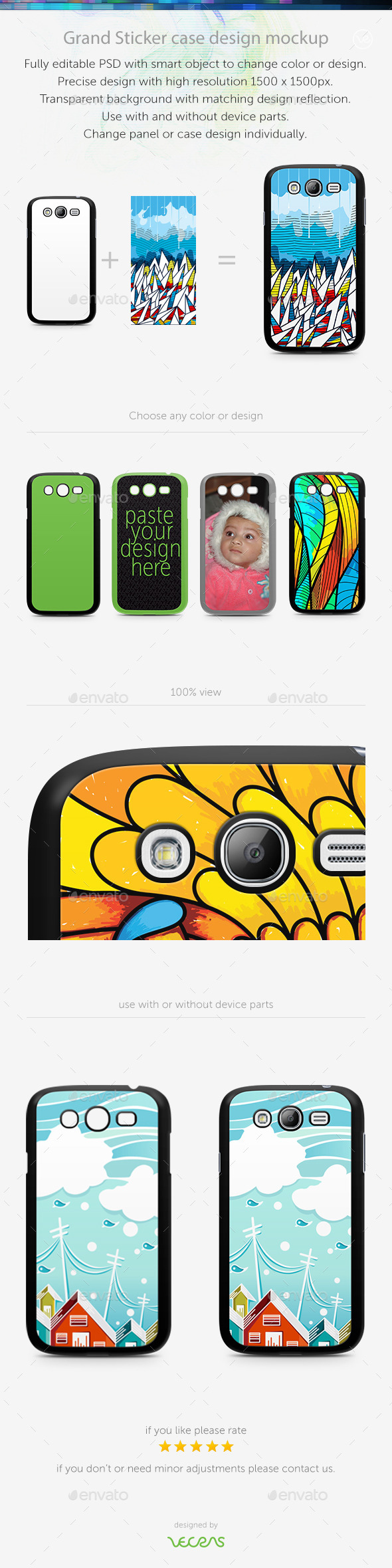 GraphicRiver Grand Sticker Case Design Mockup 10350418