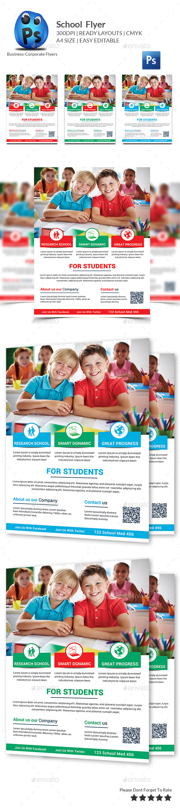 GraphicRiver Education Flyer Print Templates 10350547