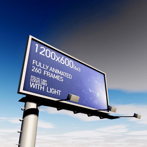 Prisma Vision Billboard With Lights - 3DOcean Item for Sale
