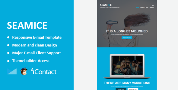 ThemeForest Seamice Responsive Email & Themebuilder Access 10350720