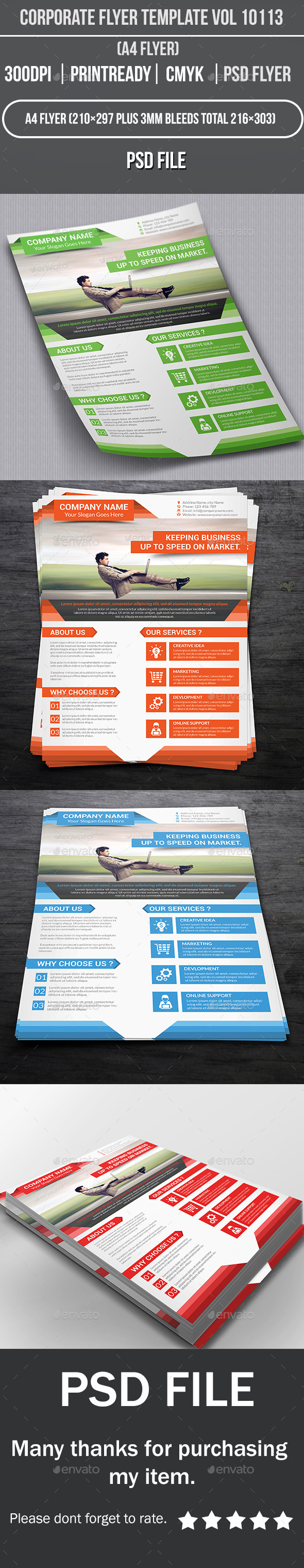 GraphicRiver Corporate Flyer Template Vol 10113 10350804