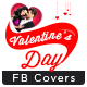Valentines Day Facebook Cover - 4 Designs - GraphicRiver Item for Sale