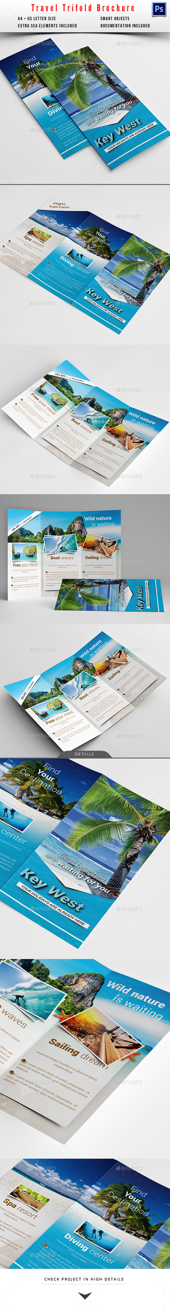 GraphicRiver Travel Holiday Trifold Brochure 10350914