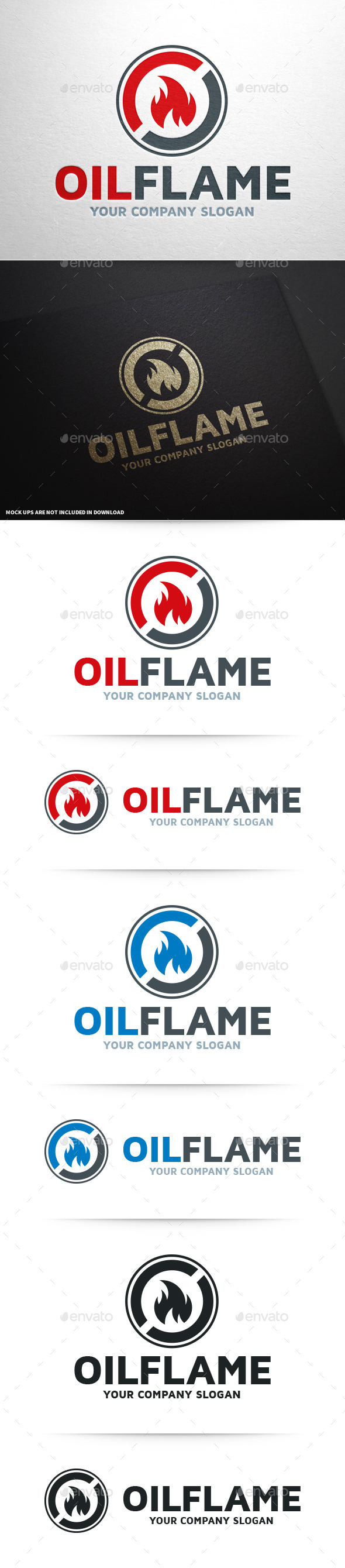 GraphicRiver Oil Flame Logo Template 10350930