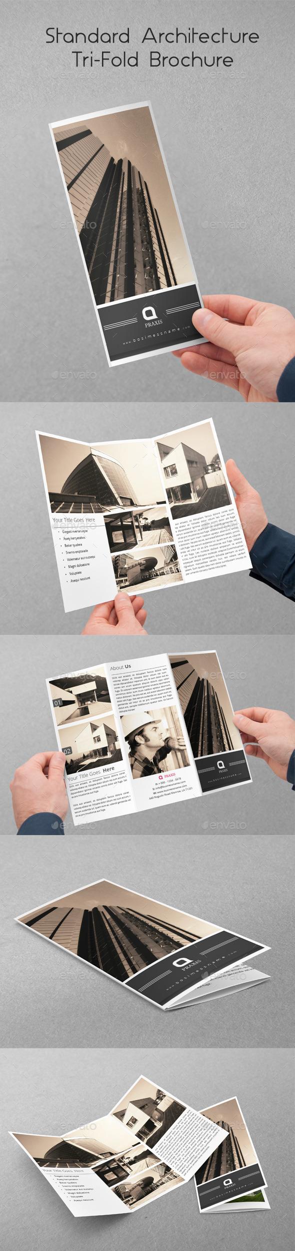 GraphicRiver Standard Architecture Tri-Fold Brochure 10350956