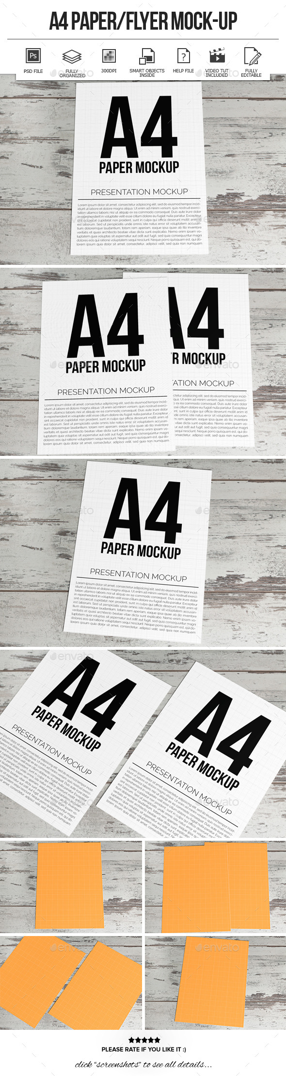 GraphicRiver A4 Paper Flyer Mock-Ups 10350975