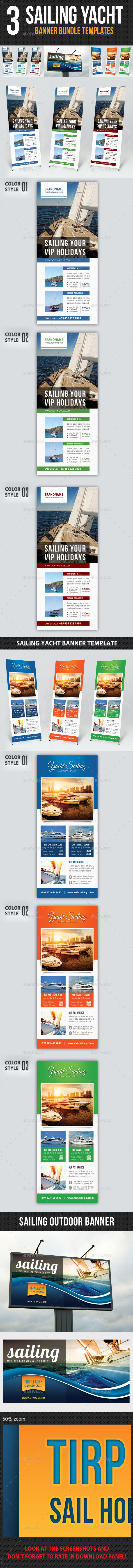 GraphicRiver 3 in 1 Sailing Yacht Banner Bundle 02 10350981