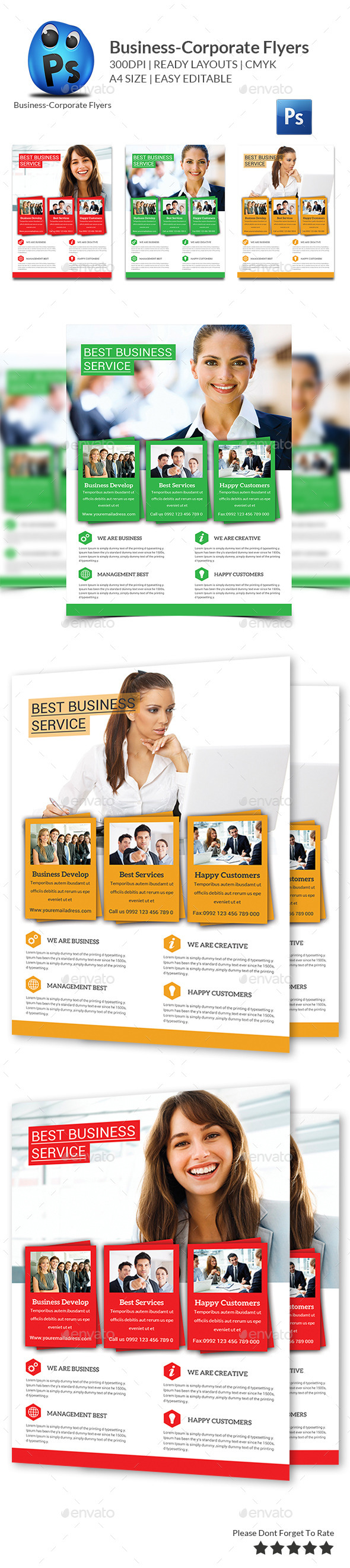 GraphicRiver Corporate Business Flyer Template 10350996