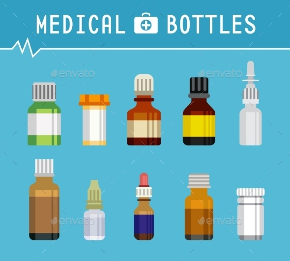 GraphicRiver Various Medication Bottles for Medical 10351175