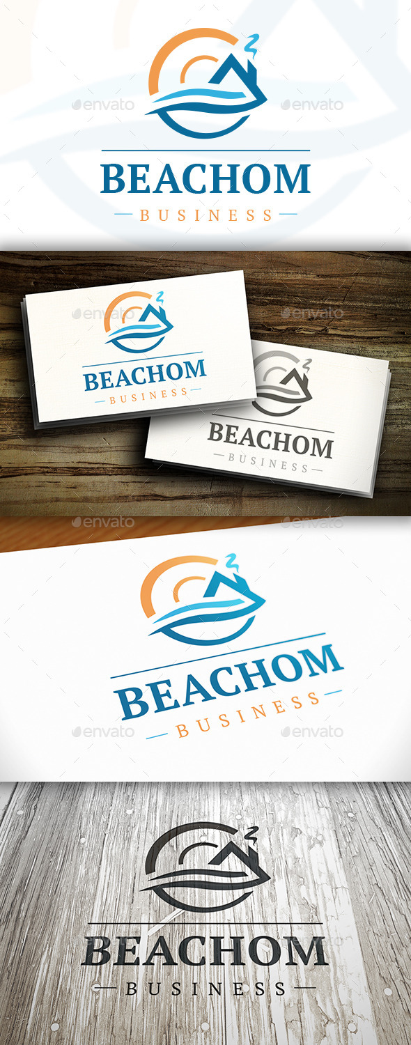 GraphicRiver House Wave Logo 10351283