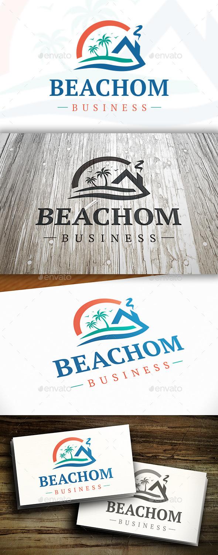 GraphicRiver Beach Wave Logo 10351551