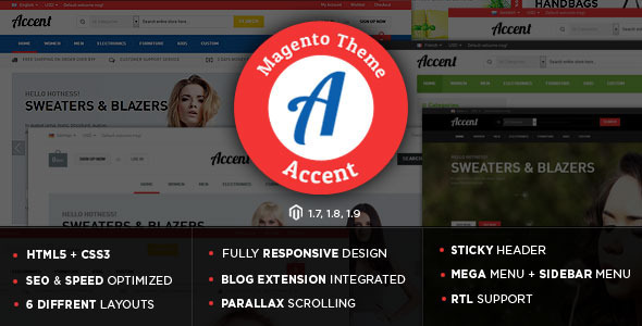 Accent - The Ultimate Responsive Magento Theme - Shopping Magento