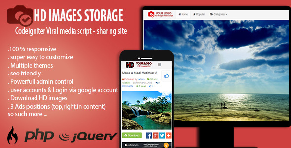 HD Images Storage Viral Media Script