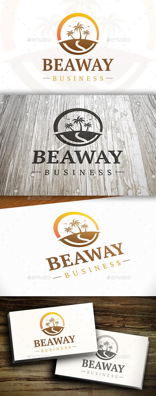 GraphicRiver Beach Way Logo 10351769