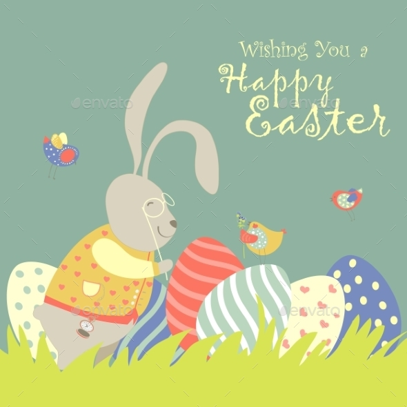 GraphicRiver Easter Bunny and Easter Egg 10351825