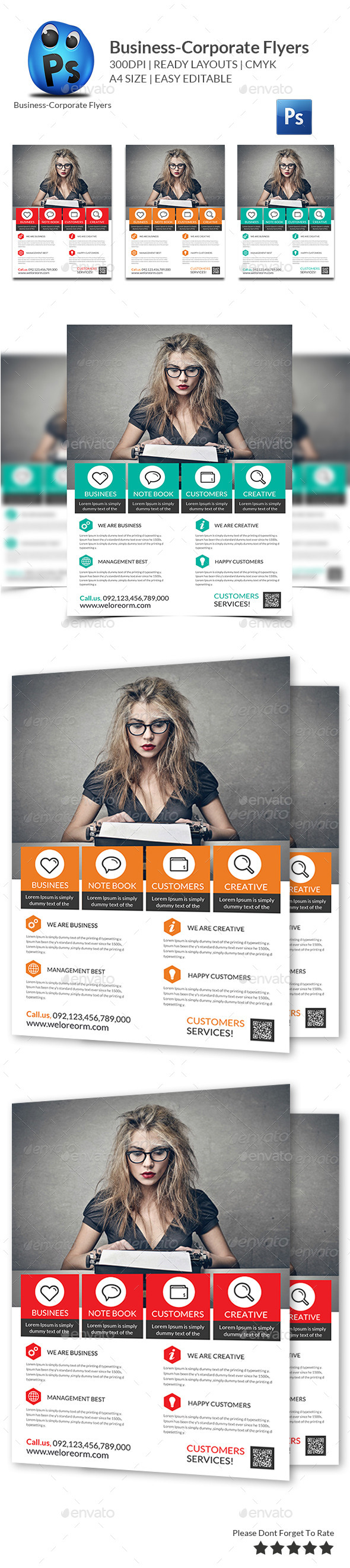 GraphicRiver Best Business Flyers Templates 10351925