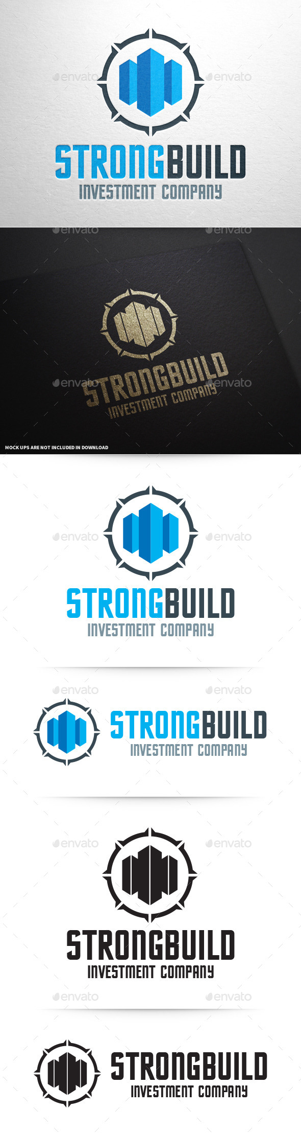GraphicRiver Strong Build Logo Template 10351930