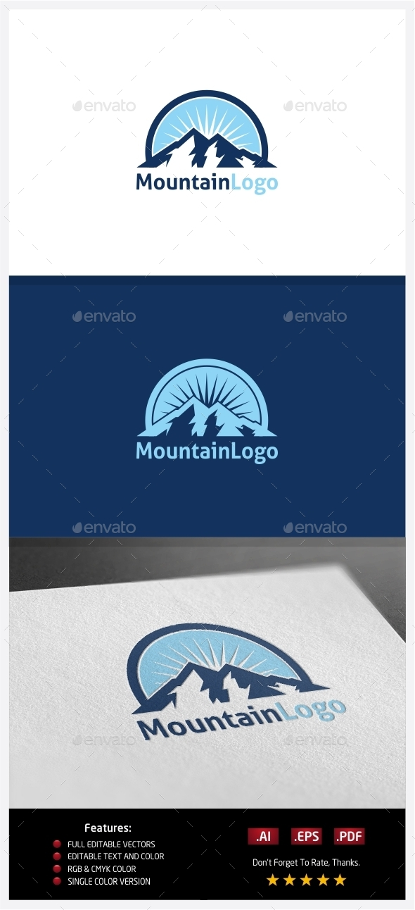GraphicRiver Mountain Logo 10351941