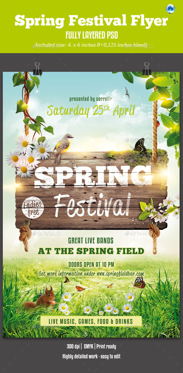 GraphicRiver Spring Festival Flyer 10351956