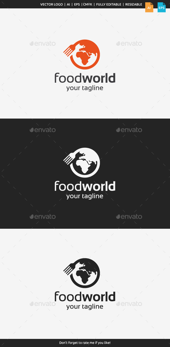GraphicRiver Food World Logo 10352010