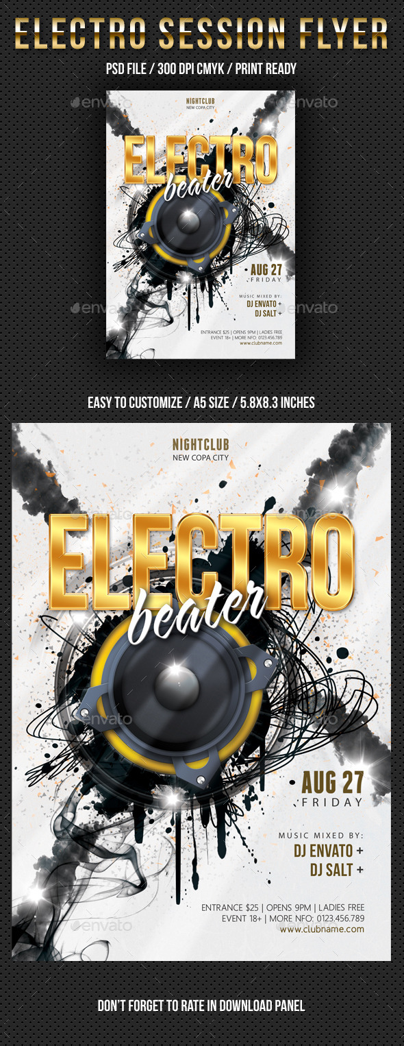 GraphicRiver Electro Session Night Party Flyer V02 10352104