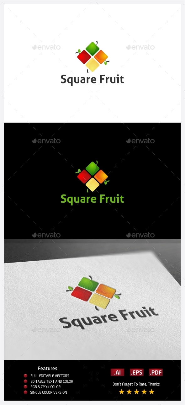 GraphicRiver Square Fruit Logo 10352141