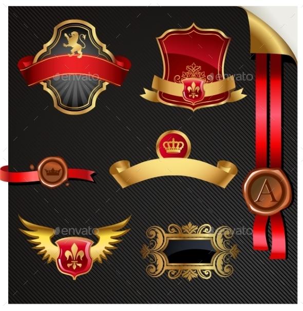 GraphicRiver Ornate Decorative Golden Frames 10352218