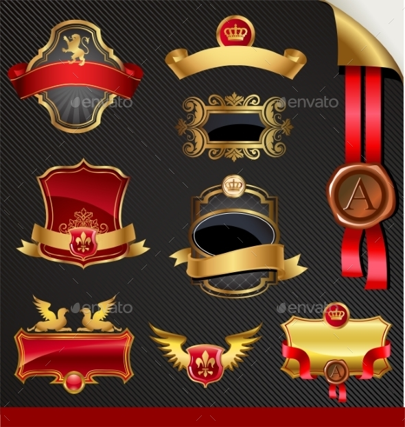 GraphicRiver Ornate Decorative Golden Frames 10352223