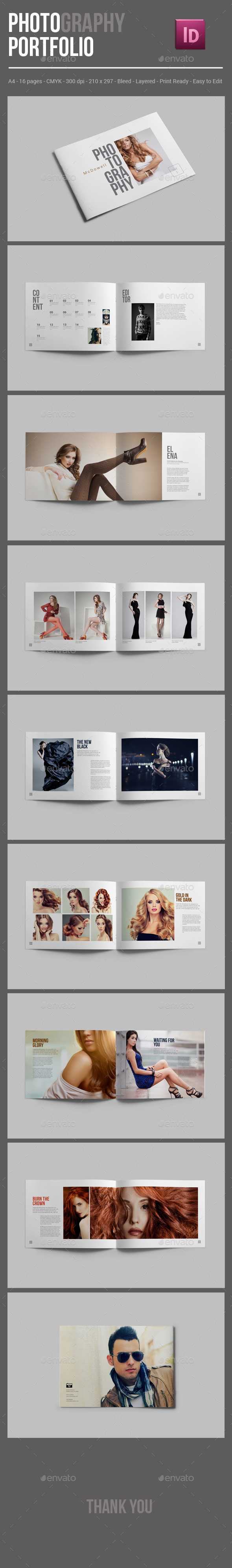 GraphicRiver Photography Portfolio Brochure Template 10352477