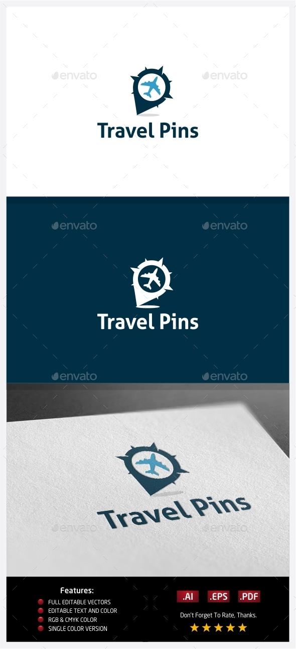 GraphicRiver Travel Pin Logo 10352509