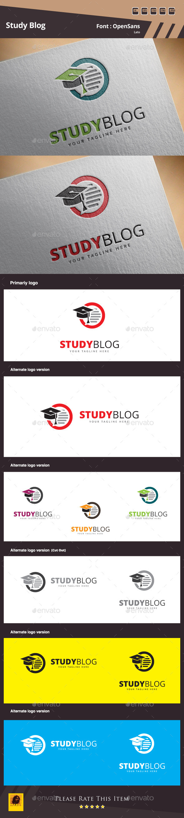 Study Blog Logo Template