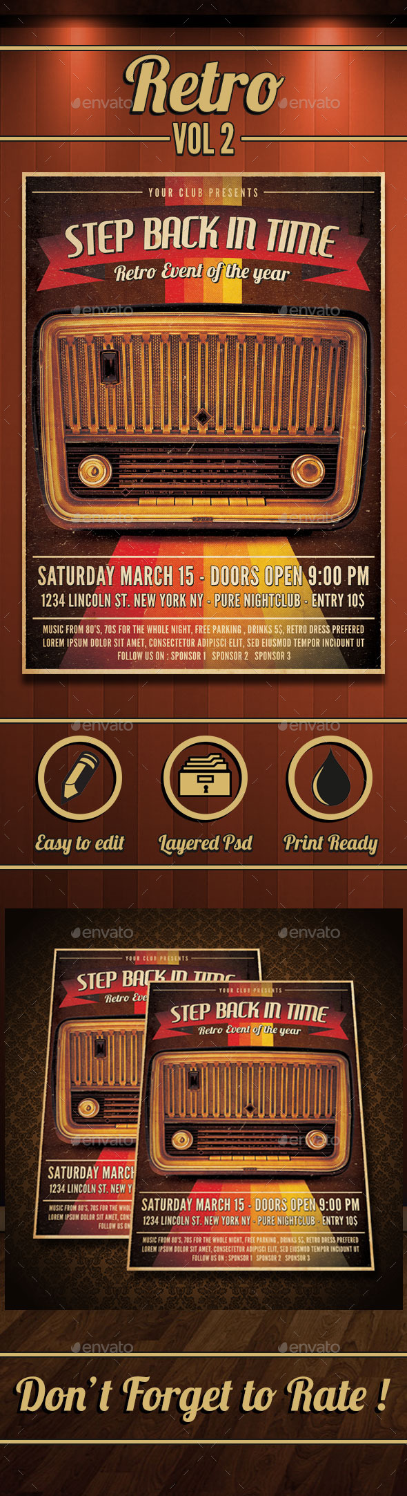 GraphicRiver Retro Flyer Vol 2 10319539