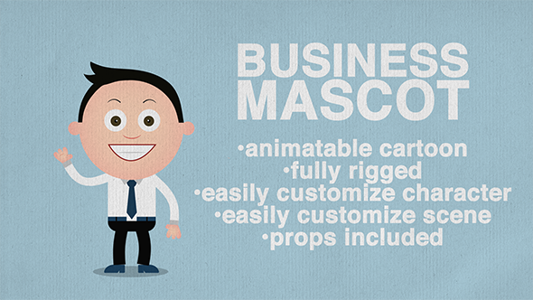 Business Mascot Animated Cartoon