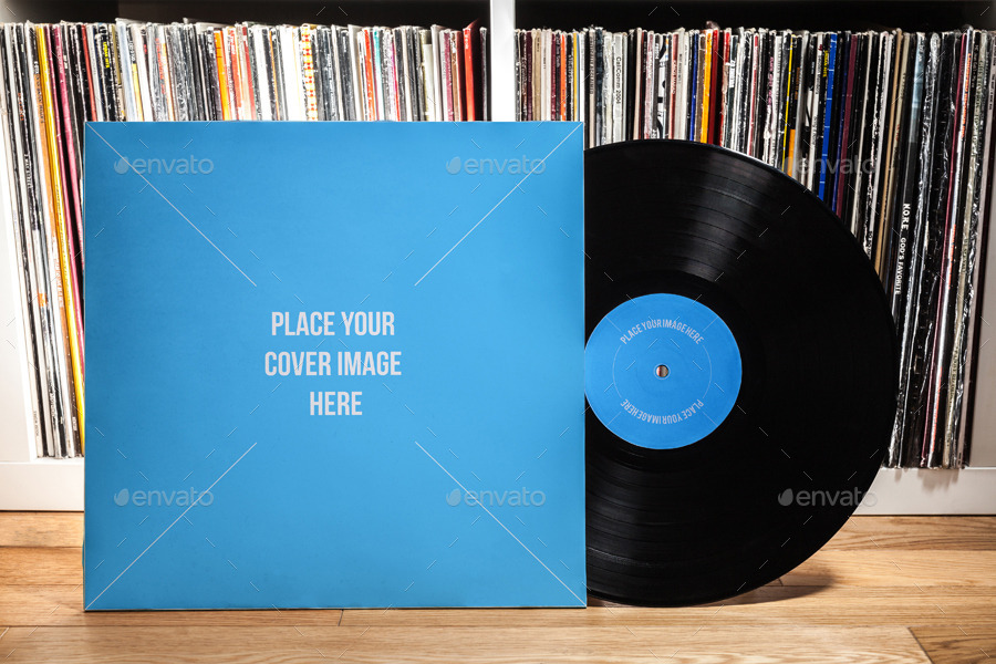 Vinyl Record Amp Album Cover Mock Ups Party Pack By