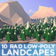 Rad Low Poly Landcapes - HiRes - GraphicRiver Item for Sale