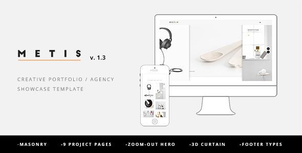 Metis - Creative Portfolio / Agency Template Download