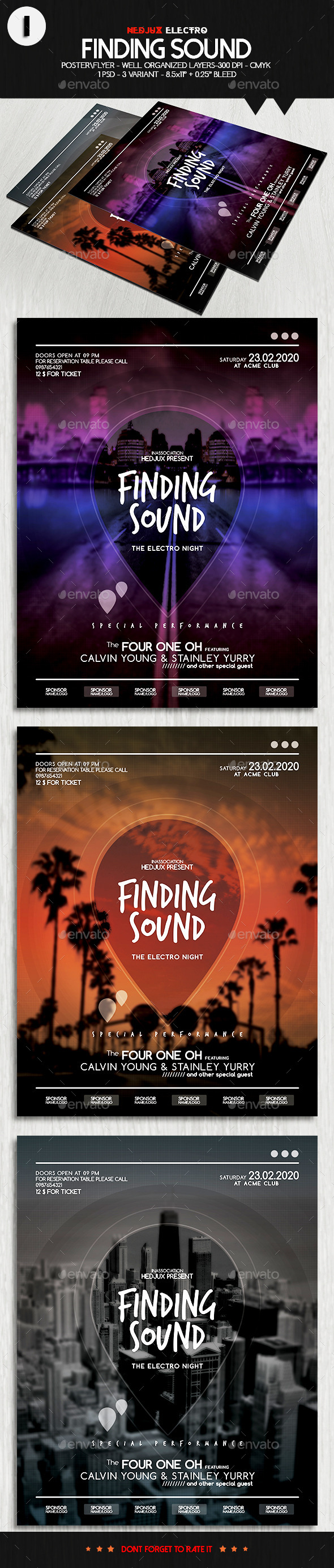 GraphicRiver Finding Sound Electro Flyer 10353328