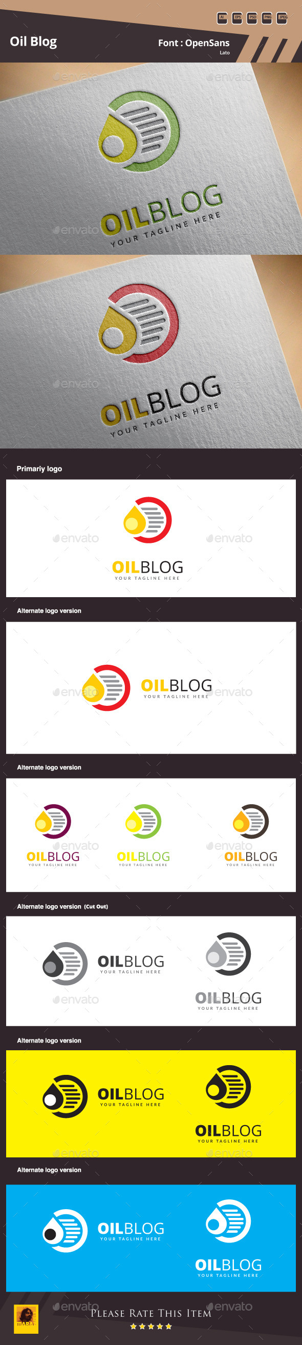 GraphicRiver Oil Blog Logo Template 10353338
